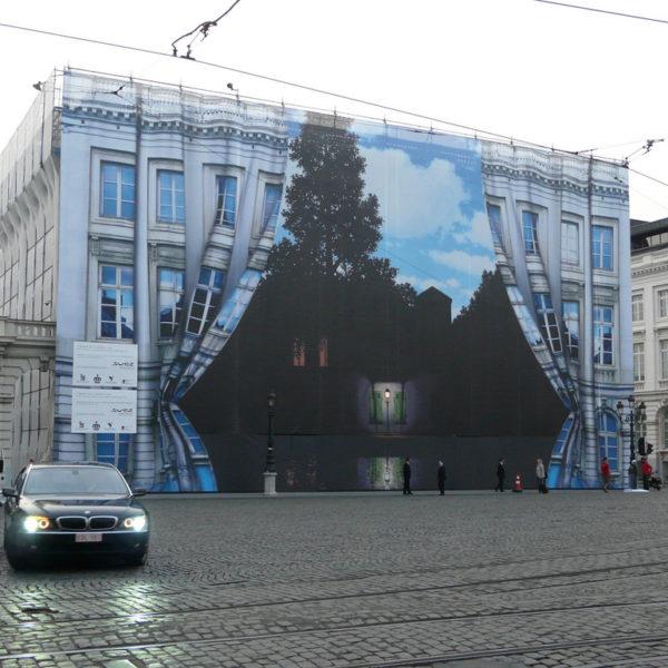 Баннерная сетка - закрыть старый фасад
