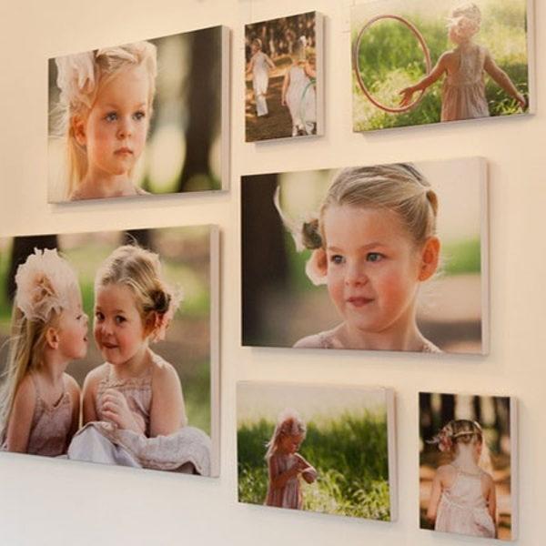 Печать на холсте - семейные фото
